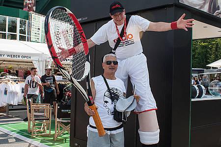 Tennisspieler-Figur bei den Gerry Weber Open