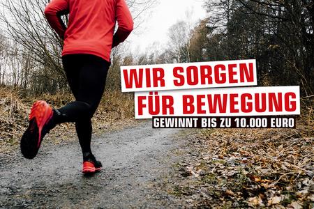 Mann joggt / Wir sorgen für Bewegung
